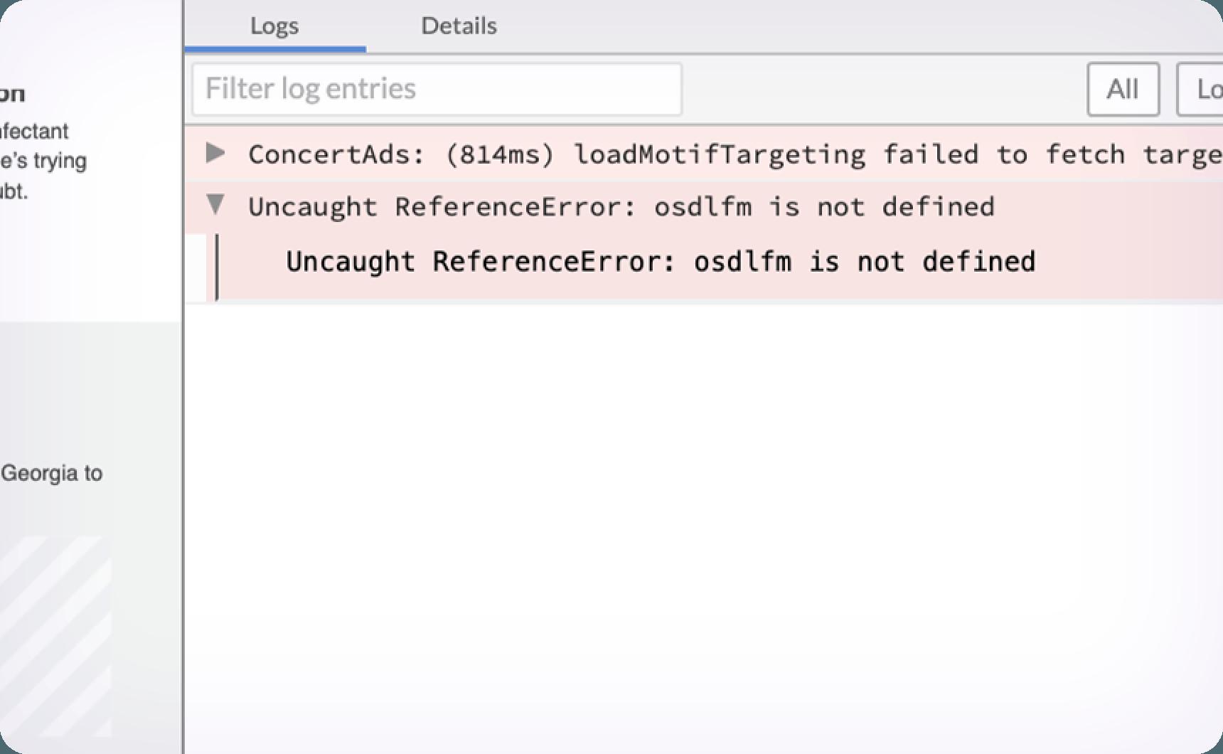 Javascript Errors